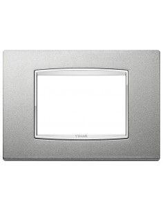 Vimar 20653.C13 Eikon Chrome - placca 3 moduli argento matt
