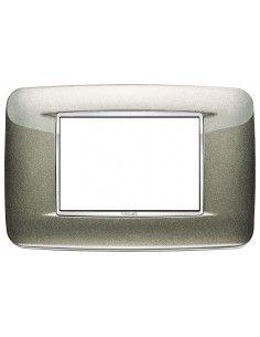 Vimar 20683.C08 Eikon Chrome - placca 3 moduli titanio metal