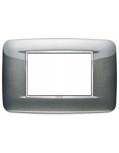 Vimar 20683.C09 Eikon Chrome - placca 3 moduli grigio atlanic metal