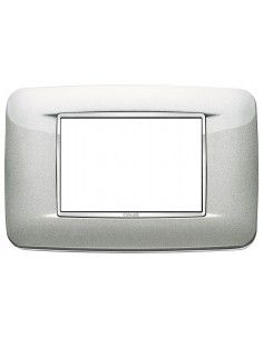 Vimar 20683.C10 Eikon Chrome - placca 3 moduli argento metal