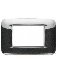 Vimar 20683.C12 Eikon Chrome - placca 3 moduli antracite metal