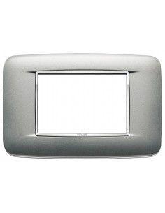 Vimar 20683.C13 Eikon Chrome - placca 3 moduli argento matt