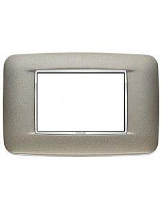 Vimar 20683.C14 Eikon Chrome - placca 3 moduli titanio matt