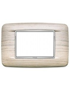 Vimar 20683.C32 Eikon Chrome - placca 3 moduli rovere bianco