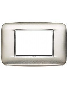 Vimar 20683.C91 Eikon Chrome - placca 3 moduli naturale spazzolato