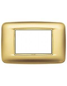 Vimar 20683.G21 Eikon Chrome - placca 3 moduli oro satinato
