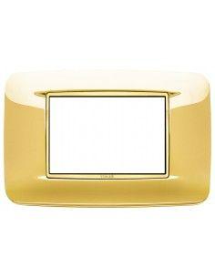 Vimar 20683.G24 Eikon Chrome - placca 3 moduli oro lucido
