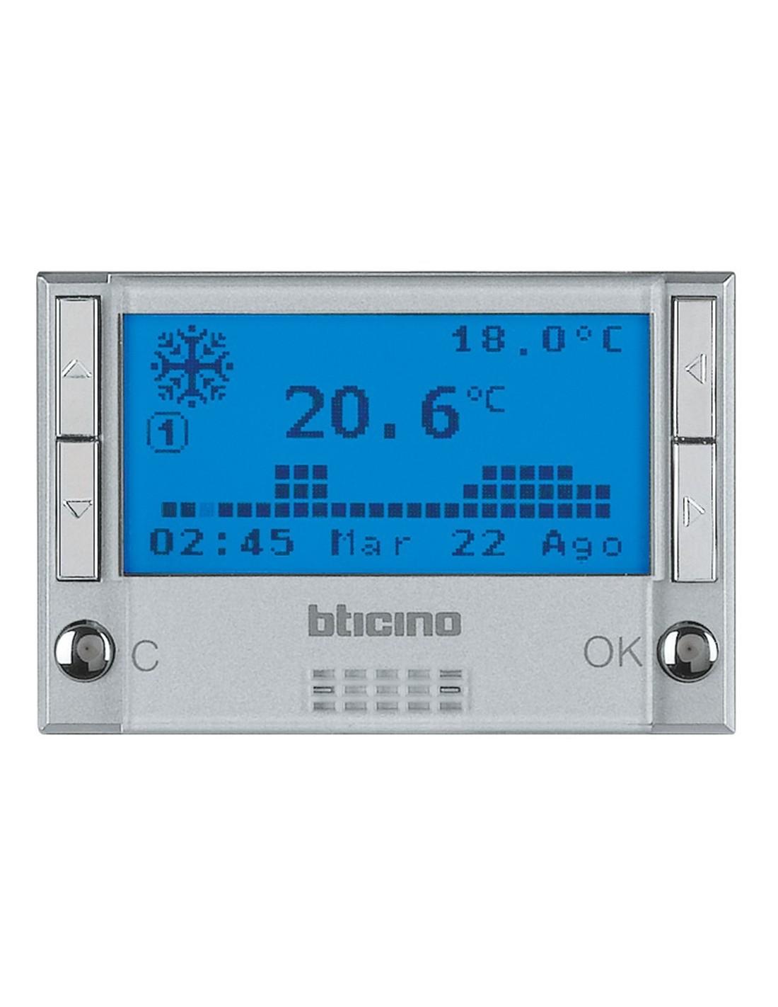 Bticino hc4451 axolute vendita cronotermostato for Istruzioni termostato bticino