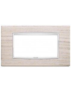 Vimar 20654.C32 Eikon Chrome - placca 4 moduli rovere bianco