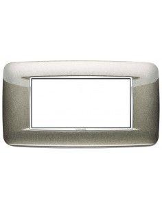 Vimar 20684.C08 Eikon Chrome - placca 4 moduli titanio metal
