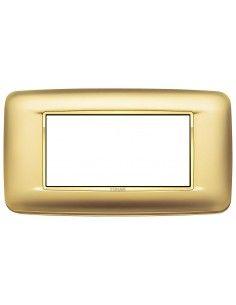 Vimar 20684.G21 Eikon Chrome - placca 4 moduli oro satinato