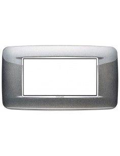 Vimar 20684.C09 Eikon Chrome - placca 4 moduli grigio atlanic metal