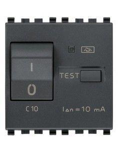 Vimar 20411.10 Eikon - interruttore automatico magnetotermico differenziale 1P+N 10A