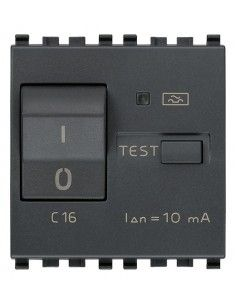 Vimar 20411.16 Eikon - interruttore automatico magnetotermico differenziale 1P+N 16A