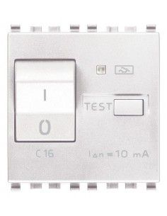 Vimar 20411.16.B Eikon - interruttore automatico magnetotermico differenziale 1P+N 16A