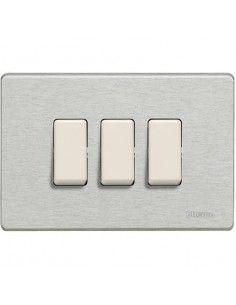 BTicino 503/3/AL Magic - placca 3 moduli alluminio naturale