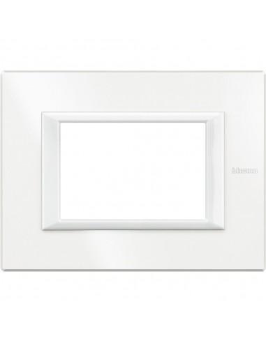 Axolute - placca rettangolare Monochrome 3 posti bianco Axolute