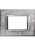 Axolute - placca rettangolare Swarovski 3 posti crystal