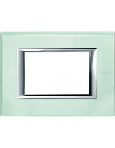Axolute - placca rettangolare Vetri in vetro 3 posti colore vetro kristall