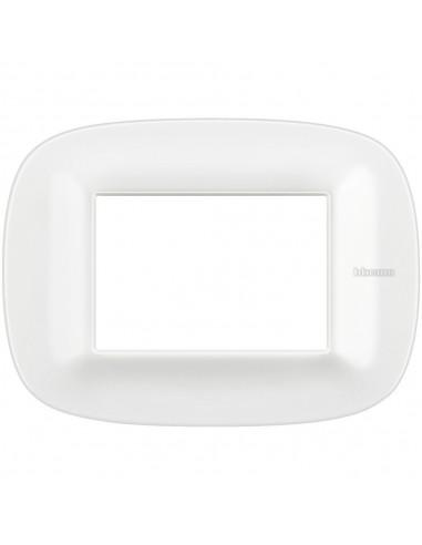 Axolute - placca ellittica Bianchi 3 posti Corian colore glacer white