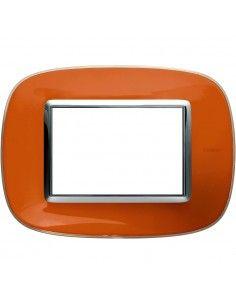 Axolute - placca ellittica Liquidi in policarbonato 3 posti colore arancio liquid