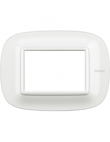 Axolute - placca ellittica Bianchi 3 posti colore bianco Axolute