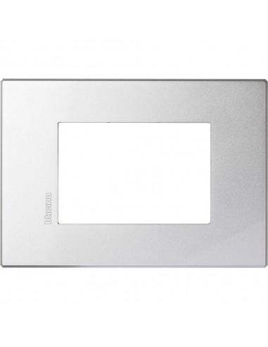 Axolute Air - placca rettangolare Monocromatiche in metallo 3 posti tech