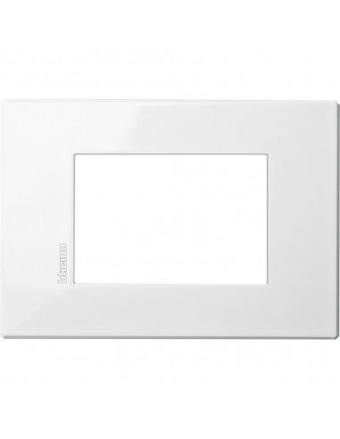 Axolute Air - placca rettangolare Monocromatiche in metallo 3 posti bianco