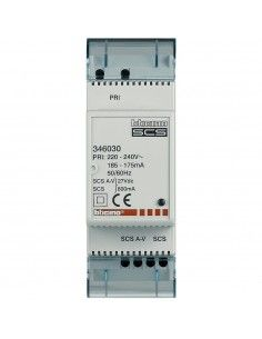 BTicino 346030 - minialimentatore con adattatore video