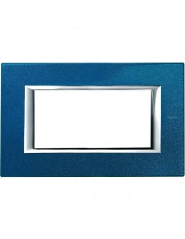 Axolute - placca rettangolare Laccati in metallo 4 posti blu meissen