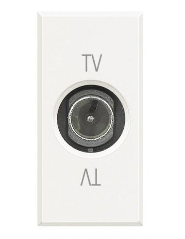 Axolute Bianco - presa TV passante maschio
