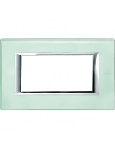 Axolute - placca rettangolare Vetri in vetro 4 posti colore vetro kristall