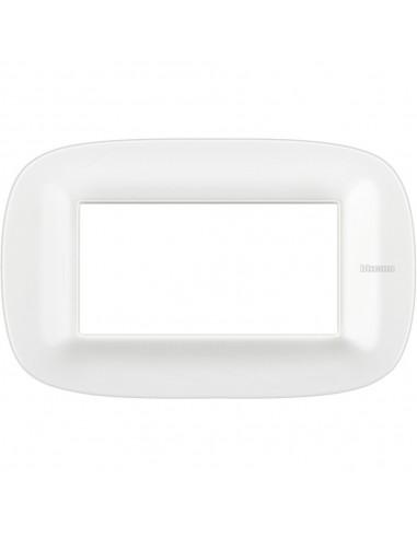 Axolute - placca ellittica Bianchi 4 posti Corian colore glacer white