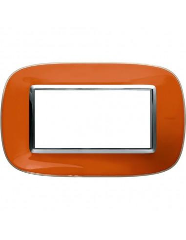 Axolute - placca ellittica Liquidi in policarbonato 4 posti colore arancio liquid