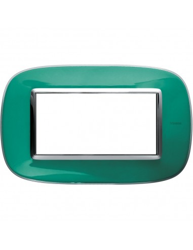 Axolute - placca ellittica Liquidi in policarbonato 4 posti colore verde liquid