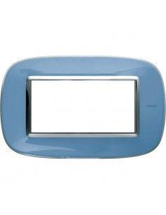 Axolute - placca ellittica Liquidi in policarbonato 4 posti colore azzurro liquid
