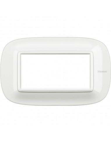 Axolute - placca ellittica Bianchi 4 posti colore bianco Axolute