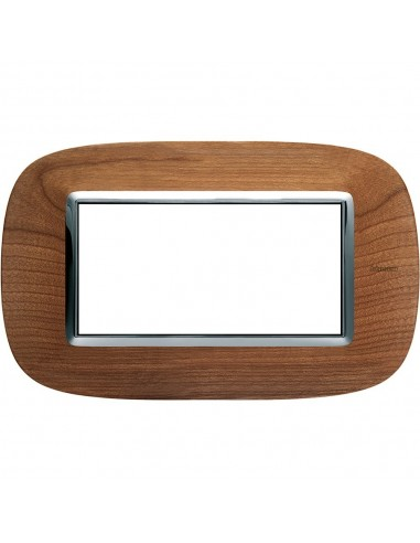 Axolute - placca ellittica Legni in legno 4 posti ciliegio