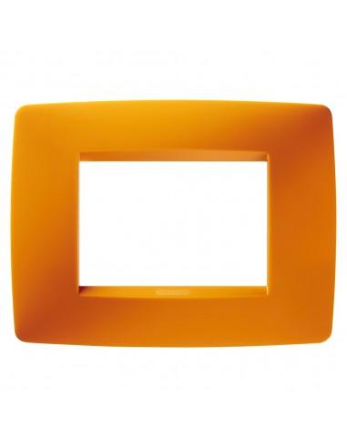 Gewiss GW16103TO Chorus - placca 3 moduli arancione opale