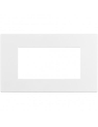 Axolute Air - placca rettangolare Bianco Opaco in metallo 4 posti bianco opaco personalizzabile