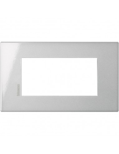 Axolute Air - placca rettangolare Monocromatiche in metallo 4 posti tech