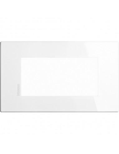 Axolute Air - placca rettangolare Monocromatiche in metallo 4 posti bianco