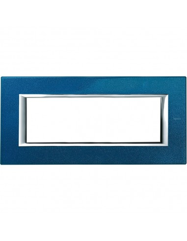 Axolute - placca rettangolare Laccati in metallo 6 posti blu meissen