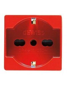 Gewiss GW20296 System - presa tedesca per linee dedicate rosso