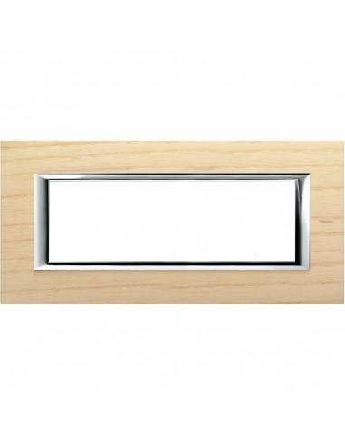 Axolute - placca rettangolare Legni in legno 6 posti frassino