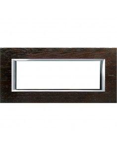 Axolute - placca rettangolare Legni in legno 6 posti wengè