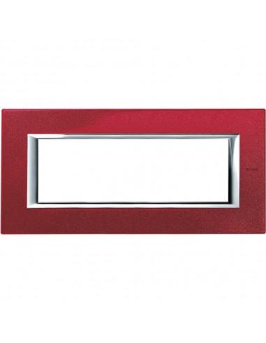 Axolute - placca rettangolare Laccati in metallo 6 posti rosso china