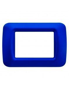Gewiss GW22573 System - placca 3 moduli blu jazz