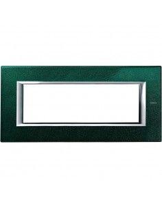 Axolute - placca rettangolare Laccati in metallo 6 posti verde sevres