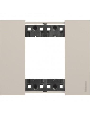 BTicino KA4802KM Living Now - placca 2 moduli sabbia